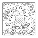 Numbers game (owl, bird) Stock Image