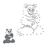 Numbers game (panda) Stock Images