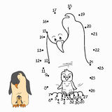 Numbers game (penguin) Stock Images