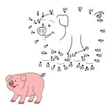Numbers game (pig). Game for children: Numbers game (pig Stock Photos