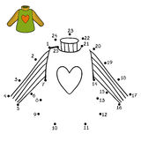 Numbers game, Pullover with heart Stock Photography
