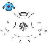 Numbers game, Pullover with snowflake Stock Images
