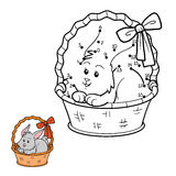 Numbers game (rabbit in the basket) Stock Photo