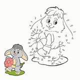 Numbers game (rabbit) Stock Images