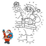 Numbers game, Santa Claus Stock Image