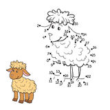Numbers game (sheep) Royalty Free Stock Images