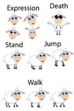 Numbers game sheep Royalty Free Stock Photography