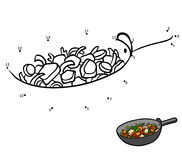 Numbers game, Vegetables in a frying pan Royalty Free Stock Photo