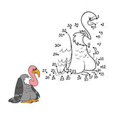 Numbers game (vulture) Royalty Free Stock Images
