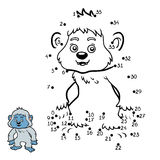 Numbers game, Yeti. Numbers game, education dot to dot game for children, Yeti Stock Image
