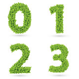 Numbers of green leaves collection. Royalty Free Stock Image