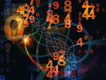 Numbers on Grid Royalty Free Stock Image