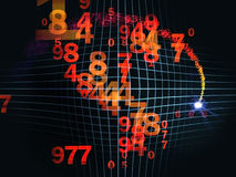 Numbers on Grid Royalty Free Stock Photography