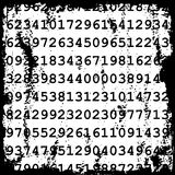 Numbers grunge background Royalty Free Stock Photography