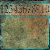 Numbers grunge background. Retro grunge background with numbers Stock Photo