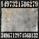 Numbers grunge background Royalty Free Stock Photos