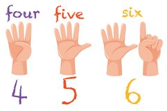 Free Numbers Hand Gesture Poster Royalty Free Stock Photo - 130821655