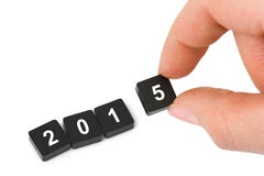 Numbers 2015 and hand Royalty Free Stock Image