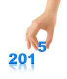 Numbers 2015 and hand Stock Image