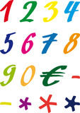 Numbers handdrawn Stock Photo