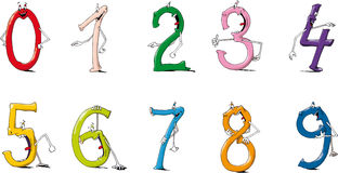 Numbers. Happy and funny live colour numbers Royalty Free Stock Image