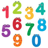 Numbers with hats Royalty Free Stock Images