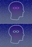 Numbers head vector illustration