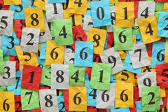 Numbers Heap Royalty Free Stock Photos
