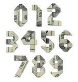 Numbers of hundred-dollar bills Stock Image