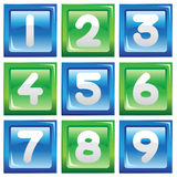 Numbers icon set Royalty Free Stock Images
