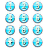 Numbers icons Stock Photos