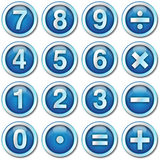 Numbers icons. Numbers blue icons web page Stock Images