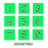 Numbers (icons account) Royalty Free Stock Image