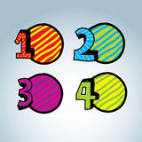 Numbers Icons Stock Photography