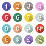 Numbers icons Royalty Free Stock Photo