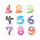 Numbers illustration Royalty Free Stock Photos