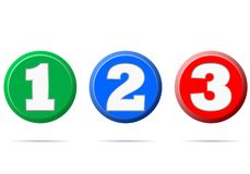 Numbers 1 2 3 - illustration. On white background royalty free illustration