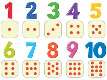Numbers with image poster stock illustration