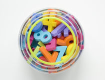 Numbers in jar Stock Images