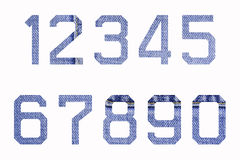 Numbers of jeans (0-9). Numbers of jeans on white background (0-9 Stock Photography