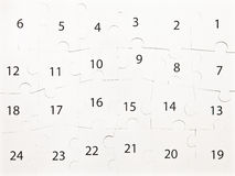 Numbers jigsaw puzzle Stock Image