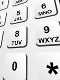 Numbers keyboard Royalty Free Stock Images