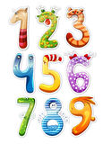 Numbers For Kids. Colorful Cartoon Numbers For Kids Stock Images