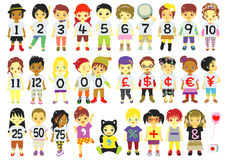 numbers kids Stock Photo