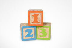 Numbers Learning Blocks Stock Photo