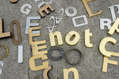 Numbers and letters for sale. At a flea market Royalty Free Stock Photos