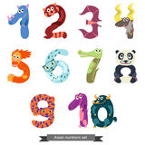 Numbers Like Asian Animals Royalty Free Stock Photography