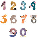 Numbers like Australian animals Royalty Free Stock Photos