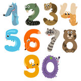 Numbers like European Forest Animals Stock Photo