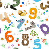 Numbers like European Forest Animals Stock Photography